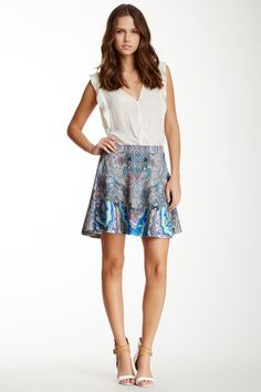 Printed Flare Skirt by Romeo & Juliet Couture on @HauteLook