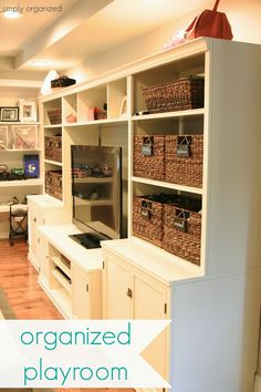 Organized Playroom - California Style