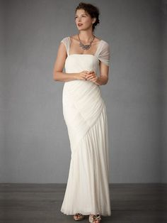 Bridal Gown - Draped Silk Tulle