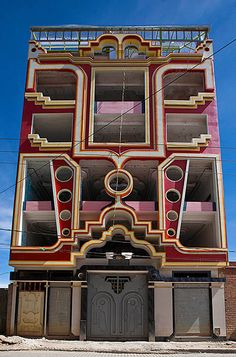 Unled By Freddy Mamani Silvestre Amazing Architecturemodern Architecturecollaborative Artboliviaart