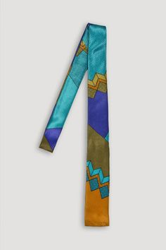 the modern archive - Memphis Milano Silk Tie by Ettore Sottsass