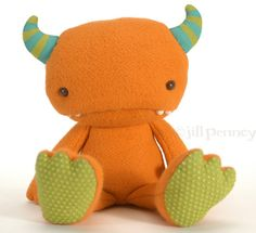 organic plush monster by WispandWander on Etsy, $92.00