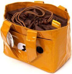 brown Rilakkuma bear face lunch bag