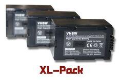 3 x vhbw Akku Set 1700mAh für Camcorder Kamera Panasonic NV-DA1 NV-DA1B ASF NV-DS1 NV-DS11 NV-DS12 NV-DS15 NV-DS150 NV-DS25 NV-DS27 NV-DS28 - http://kameras-kaufen.de/vhbw/3-x-vhbw-akku-set-1700mah-fuer-camcorder-kamera-nv