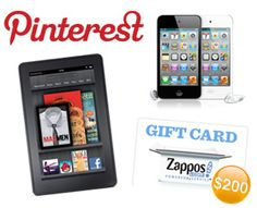 Win A Kindle Fire, iPod Touch, or Zappos Gift Card
