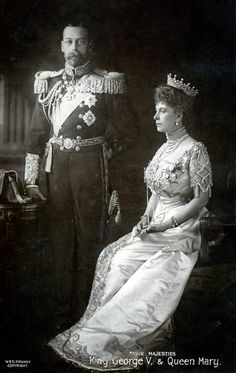 British Royalty, Souvenir Postcard, A Coronation souvenir to King George V of Great Britain, (crowned June and Queen Mary, showing them dressed in the attire of state Royal King, Royal Queen, King Queen, Queen Victoria Family, Queen Victoria Prince Albert, Royal Monarchy, British Monarchy, English Royal Family, British Royal Families