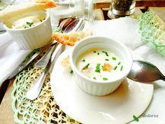 Blog de cuina de la dolorss: Crema de queso parmesano con huevos de codorniz