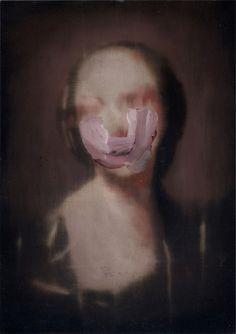 Nicola Samorì, prua degli informi, oil on wood, 27 x 19 cm, 2010