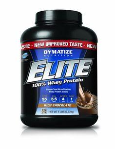 Dymatize Nutrition Elite Whey Protein, Rich Chocolate, 5 Pound