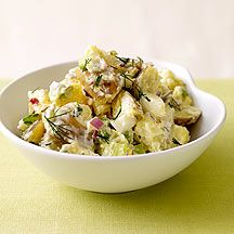 American Potato Salad - Summer's not complete without this classic side dish. Ours has buttery Yukon Gold potatoes, hard-boiled eggs and a splash of vinegar for extra flavor. Healthy Recipes, Ww Recipes, Salad Recipes, Great Recipes, Cooking Recipes, Capers Recipes, Sausage Recipes, Soup Recipes, Chicken Recipes