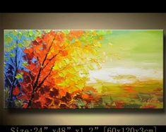 árbol colorido de pared contemporánea arte pintura por xiangwuchen