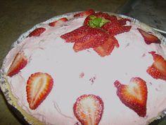Deep South Dish: No Bake Frozen Yogurt Strawberry Pie