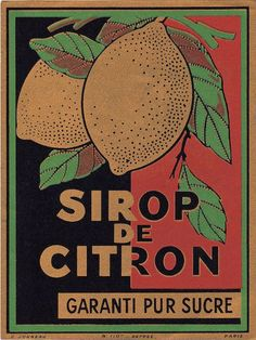 Vintage French Label with Lemons - The Graphics Fairy