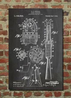 First Rocket Poster First Rocket Patent First Rocket Print First Rocket Art First Rocket Decor First Rocket Blueprint