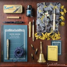 Goulet Pens Blog: Thursday Things: Indigo and Gold