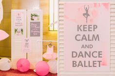 Helena's Ballerina Themed Party – Stage area