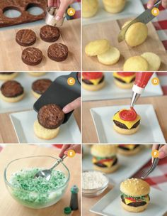 these are the BEST Cupcake Ideas!- Easy Cheeseburger Cupcakes…these are the BEST Cupcake Ideas! Easy Cheeseburger Cupcakes…these are the BEST Cupcake Ideas! Delicious Desserts, Dessert Recipes, Yummy Food, Summer Cupcake Recipes, Fun Cupcakes, Cupcake Cakes, Summer Cupcakes, Cupcake Cupcake, Birthday Cupcakes
