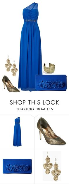 One Shoulder Gown by andrea-barbara-raemy on Polyvore featuring Mode, Adrianna Papell, Steve Madden, Urbiana and Lucky Brand
