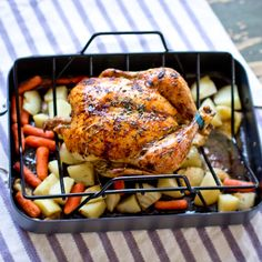 Honey Glazed Roast Chicken, will try w/ my new convection oven