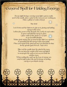 General spell for holding energy