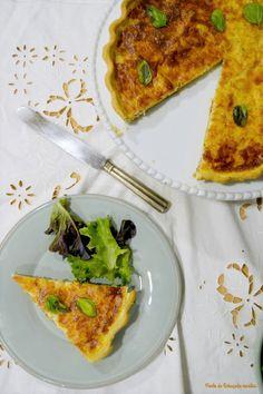 Ponto de Rebuçado Receitas: Quiche de atum e queijo fresco com tomate e manjericão