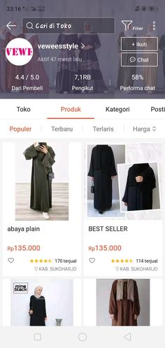 Best Online Clothing Stores, Online Shopping Sites, Online Shopping Clothes, Street Hijab Fashion, Fashion Outfits, Womens Fashion, Online Shop Baju, Instagram Story Filters, Casual Hijab Outfit