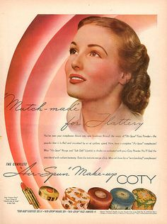 1940 Cuty Make Up Original Print Ad Large Single Ad - Between 10 x 13 to 11 x 14 inches, suitable for framing.