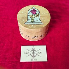 """Hand painted """"Tale as old as time"""" trinket box. by TheSevenYearStitchUK on Etsy https://www.etsy.com/listing/190848697/hand-painted-tale-as-old-as-time-trinket"""
