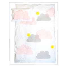This hand printed Little Louli kids quilt cover is made right here in Australia. The crisp white fabric is 100% 5 star hotel quality cotton, and is screen printed with water based ink which makes it good for your little one, and good for the environment! Something to keep for years it will last