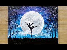 DIY ARTS PAINTING Aluminum painting technique / How to draw a dancing girl under moonlight Acrylic Painting Ideas acrylic painting ideas Aluminum Arts dancing DIY draw girl Moonlight painting technique Canvas Painting Tutorials, Acrylic Painting For Beginners, Acrylic Painting Techniques, Painting Videos, Paint Techniques, Moonlight Painting, Moon Painting, Painting Of Girl, Fabric Painting