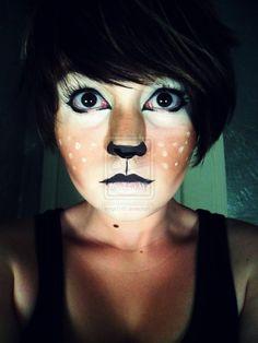 Fawn Makeup -- Love this Halloween Makeup! Perfect.