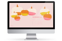 Great ready for fall with these cute and colorful pumpkin wallpaper available for computers, phones and tablets.