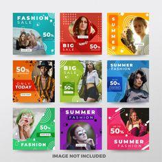 Instagram post or square banner. fashion theme Premium Vector Banner Design Inspiration, Web Banner Design, Web Banners, Instagram Design, Instagram Posts, Ad Design, Book Design, Modern Design, Instagram Advertising