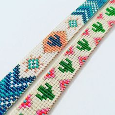 off loom beading Loom Bracelet Patterns, Bead Loom Bracelets, Bracelet Crafts, Bead Loom Patterns, Beaded Jewelry Patterns, Beading Patterns, Beading Ideas, Beading Supplies, Bracelet Crochet