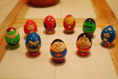 DC Superheroes. Coloring Easter eggs ideas: favorite game characters
