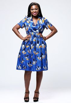 6ffc7423e2be African Print Short Sleeve Dress (3 colors available)