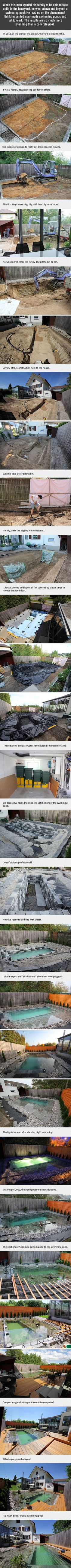 His idea for a backyard seems crazy at first. But after seeing the result? Absolutely genius.
