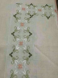 Discover thousands of images about Özen Orhan HacıoğLu Embroidery Designs, Types Of Embroidery, Ribbon Embroidery, Hardanger Embroidery, Embroidery Stitches, Swedish Weaving, Drawn Thread, Stencil Designs, Embroidery Patterns