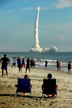 Cocoa Beach Canaveral Pier North Of The Watch Launch From