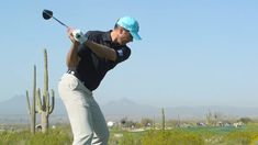 The days of the upright swing are over. Master a flat, low-hands swing like Matt Kuchar's to create more rotational speed and you'll get more straight drives that go deep. Johnny Miller Golf, Iron Games, Best Iron, Modern Games, How To Become, Flat, Hands, Deep, Create