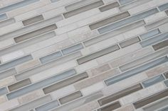 Bliss Series Stone and Glass Linear Mosaic Tiles - contemporary - kitchen tile - Cove Finishings