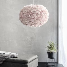 Feather Light Shade, Feather Lamp, Light Shades, Eos, Goose Feathers, Pink Feathers, Cotton Ball Lights, Lampshades, Tinkerbell