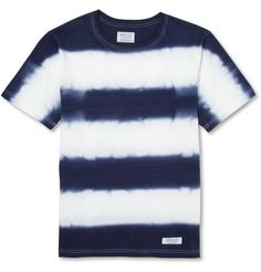 Tie-Dye striped cotton tee shirt Neighborhood