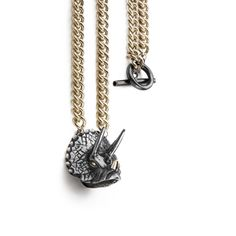 Triceratops Chunky Chain with T-Bar necklace