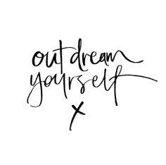 Wednesday's thought via @theblacklinebylauren #qotd #dream #big ...
