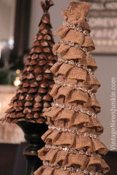 How to Make a Burlap Christmas Tree in 5 Minutes! {Easy Tutorial}