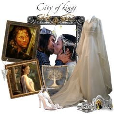 Arwen Undómiel & Aragorn II Elessar by kemp-jessica on Polyvore featuring Gianvito Rossi and Council