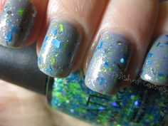 Polished Cousins: Blue Monday - Sation Go Glitter Girl