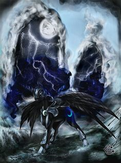 Dark moon unicorn Pegasus