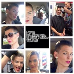 Brave'n The Buzz #buzzcut #fullbuzz #girlswithshavedheads Thx @soojaded1609